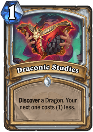 Draconic Studies Card