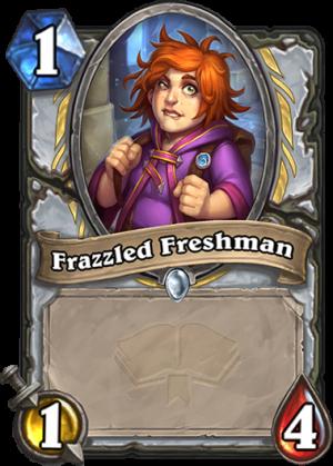 Frazzled Freshman Card