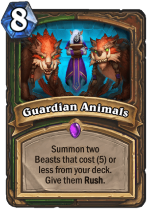 Guardian Animals Card