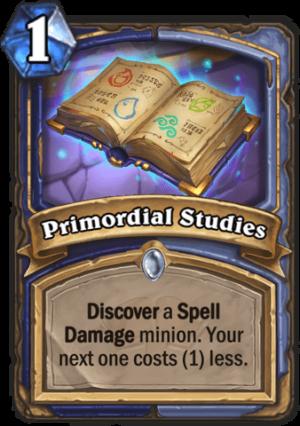 Primordial Studies Card
