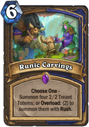 Runic Carvings Card