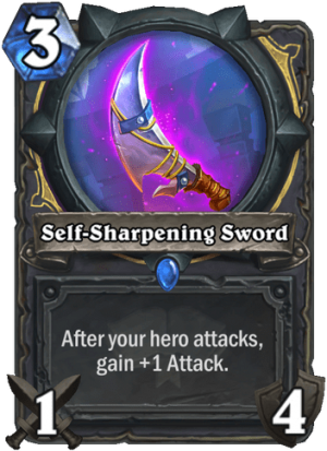 Self-Sharpening Sword Card