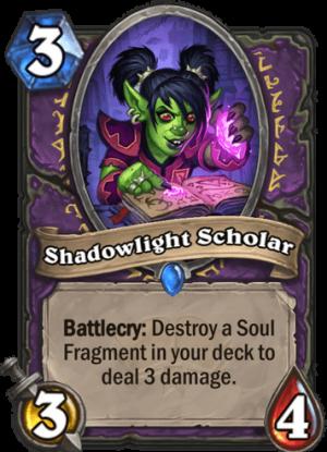 Shadowlight Scholar Card