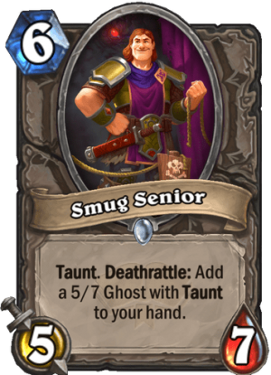 Smug Senior Card