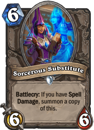 Sorcerous Substitute Card