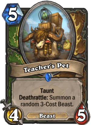 Teacher's Pet Card