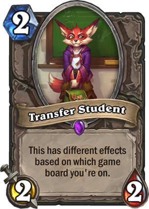 Transfer Student Card