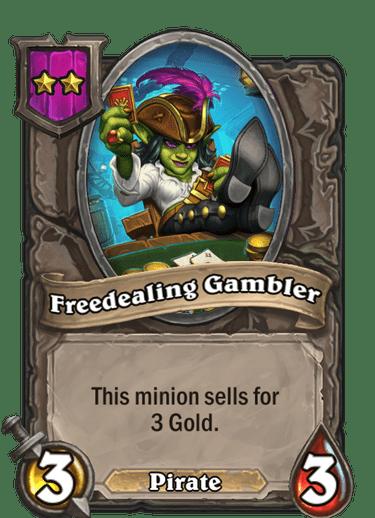 Freedealing Gambler Card!