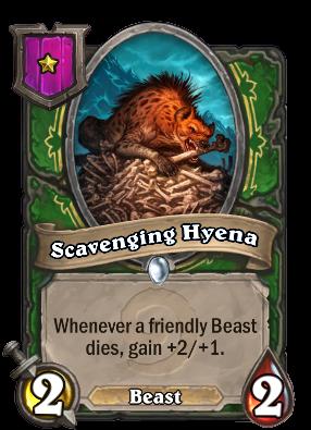 Scavenging Hyena Card!