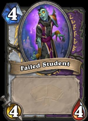 Failed Student Card