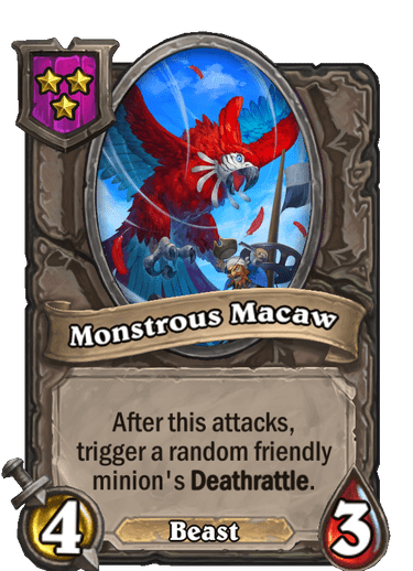 Monstrous Macaw Card!