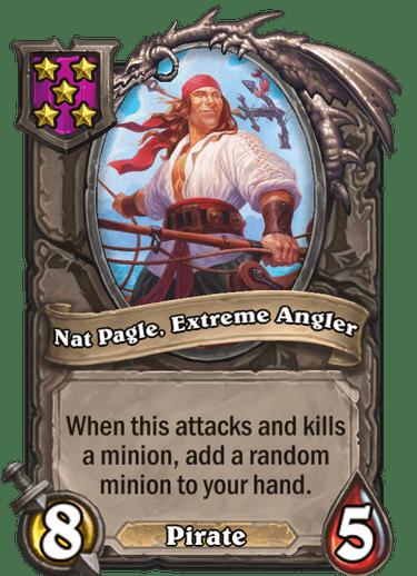 Nat Pagle, Extreme Angler Card!
