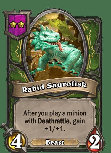 Rabid Saurolisk Card!