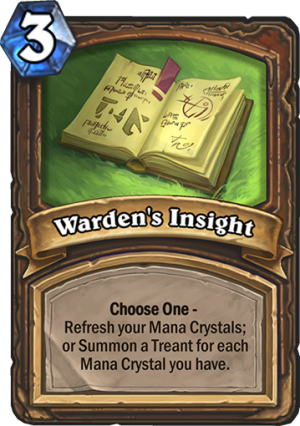 Warden's Insight Card