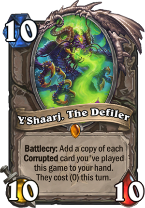 Y'Shaarj, The Defiler Card