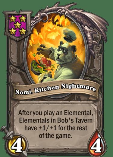 Nomi, Kitchen Nightmare Card!