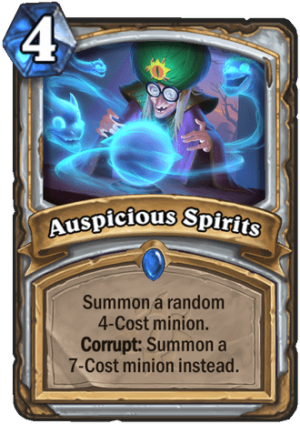 Auspicious Spirits Card