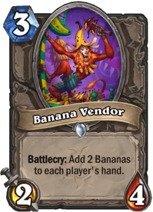 Banana Vendor Card