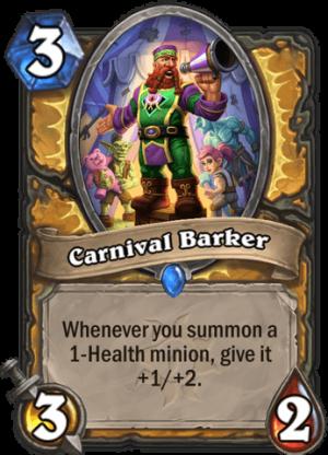 Carnival Barker Card