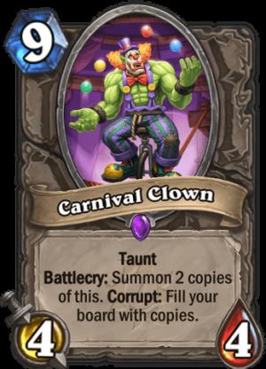 Carnival Clown Card