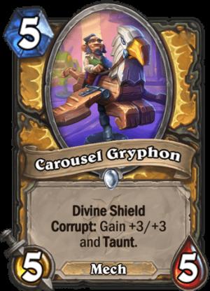 Carousel Gryphon Card