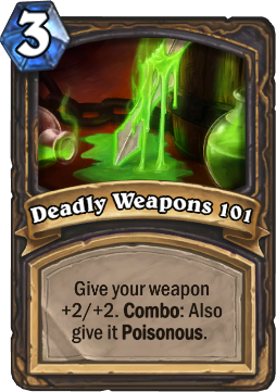 Deadly Weapons 101 Card