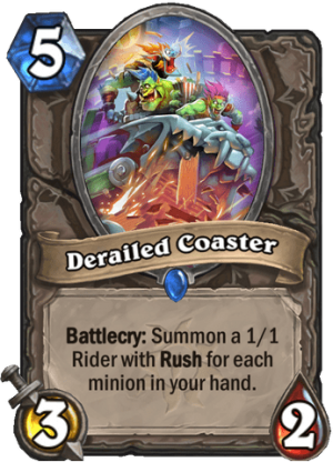 Derailed Coaster Card