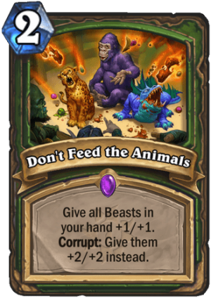 Don't Feed the Animals Card