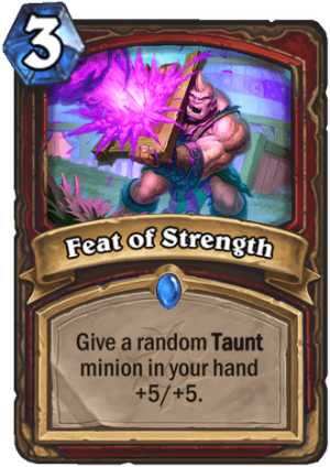 Feat of Strength Card