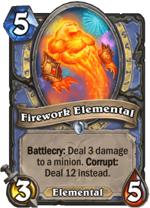Firework Elemental Card