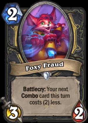 Foxy Fraud Card