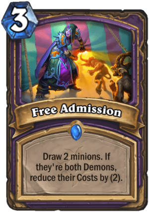 Free Admission Card
