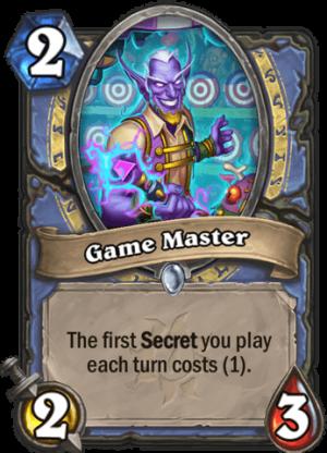Game Master Card