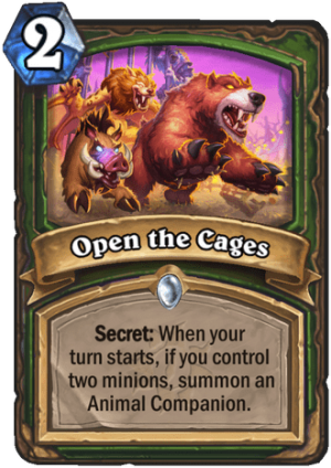 Open the Cages Card