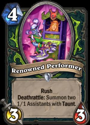 Renowned Performer Card