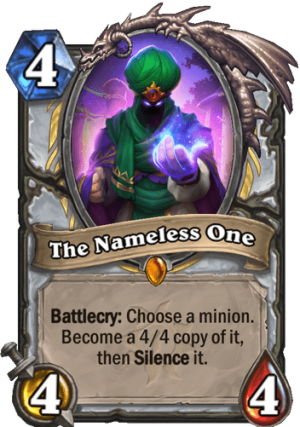 The Nameless One Card