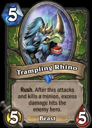 Trampling Rhino Card