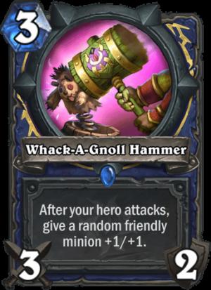 Whack-A-Gnoll Hammer Card