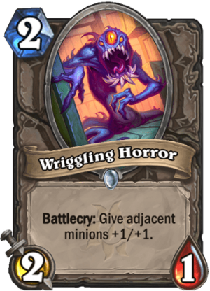 Wriggling Horror Card