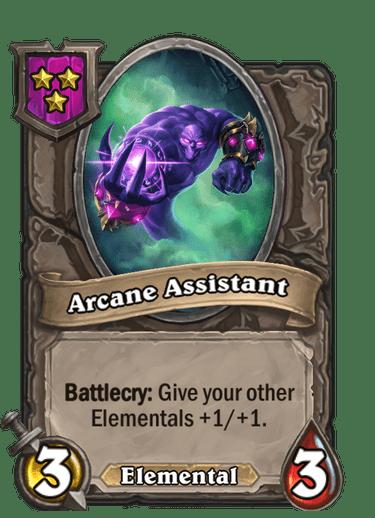 Arcane Assistant Card!