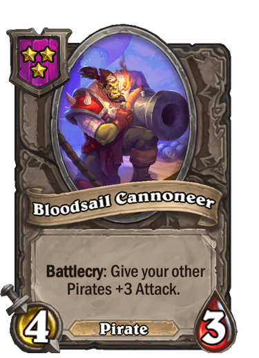 Bloodsail Cannoneer Card!