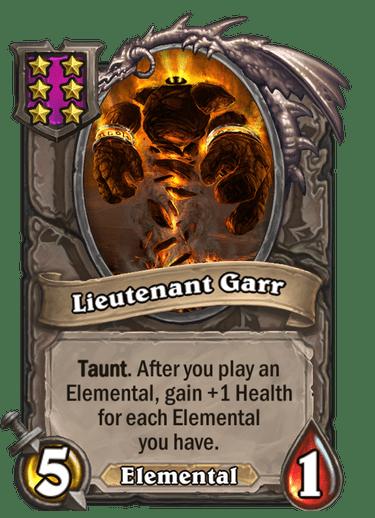 Lieutenant Garr Card!