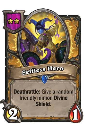 Selfless Hero Card!