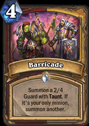 Barricade Card