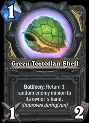 Green Tortollan Shell Card