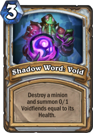 Shadow Word: Void Card