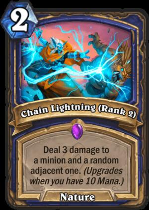Chain Lightning (Rank 2) Card