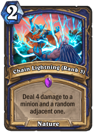 Chain Lightning (Rank 3) Card