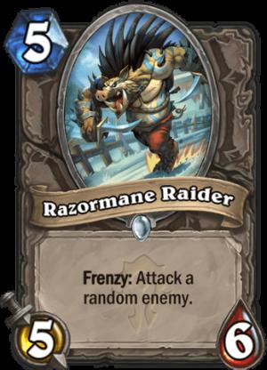 Razormane Raider Card