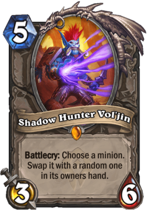 Shadow Hunter Vol'jin Card
